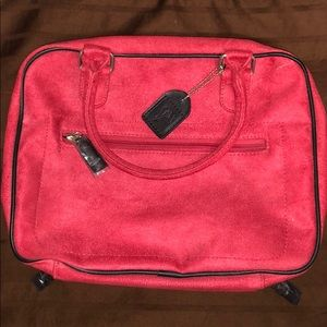 Red velvet dual side Lancôme makeup case